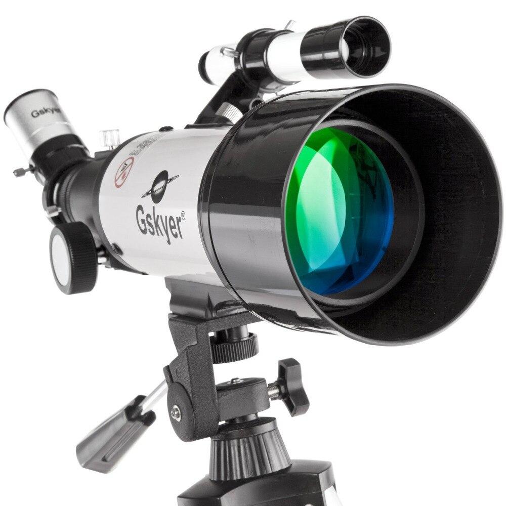 Gskyer 70AZ(400 X 70mm) German Technology Refractor Astronomy Telescope HD High Quality