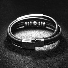 Fashion Leather multi layer Bracelet for Men