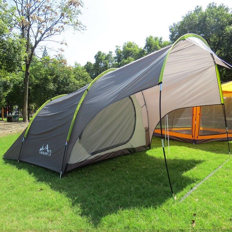 Laputa (135 + 220) * 240*185 CM 4 personnes utiliser un Hall une chambre Camping tente auto-conduite famille tente loisirs auvent voiture tente