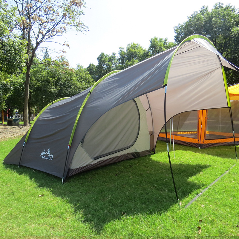 цены Laputa (135+220)*240*185CM 4 Person Use One Hall One Bedroom Camping Tent Self-driving Family Tent Leisure Canopy Car Tent