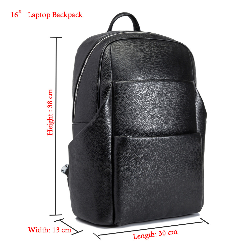 Design Male Quality Original Leather Casual Fashion Large Capacity Travel School College Bag Backpack Daypack For Men 131419-19Design Male Quality Original Leather Casual Fashion Large Capacity Travel School College Bag Backpack Daypack For Men 131419-19
