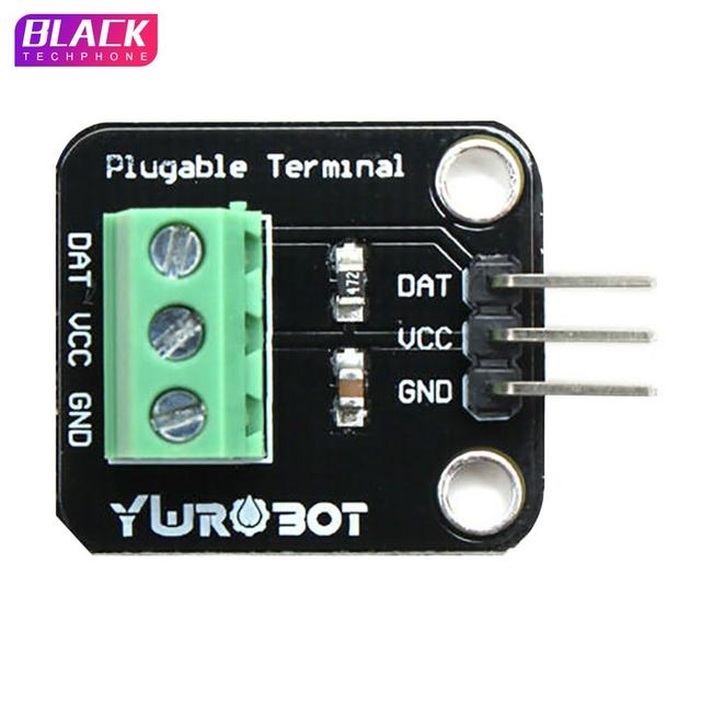 DS18B20 Waterproof Sensor Module Kit Thermal Probe Digital Sensor Cable Temperature Thermometer Terminal Adapter for Arduino