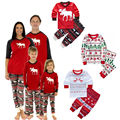 2016 Niños Niñas niño de Navidad pijama ropa para adolescentes niños pijama niños ropa de dormir pijamas de navidad rojo raya verde