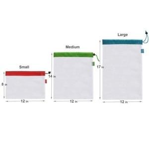 Image 5 - 1 pcs/3 pcs/5 pcs 재사용 가능한 생산 메쉬 가방 로프 야채 완구 스토리지 파우치 과일 및 식료품 가방 메쉬 스토리지 가방 쇼핑 가방