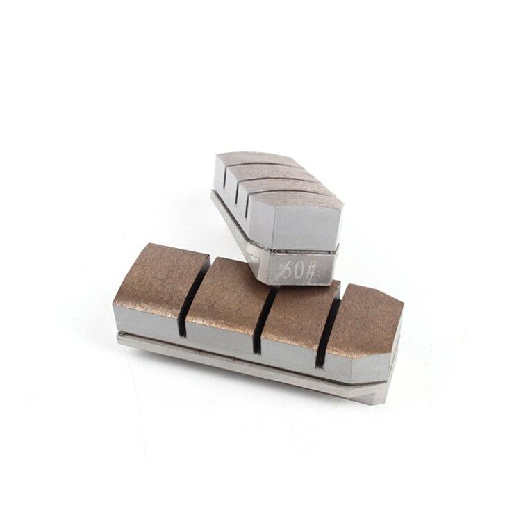 ST02 алмазный шлифовальный блок по сварочный аппарат высокой частоты линии абразивный шлифовальный инструмент ромбовидный fickert для Гранит Мрамор 5 шт.