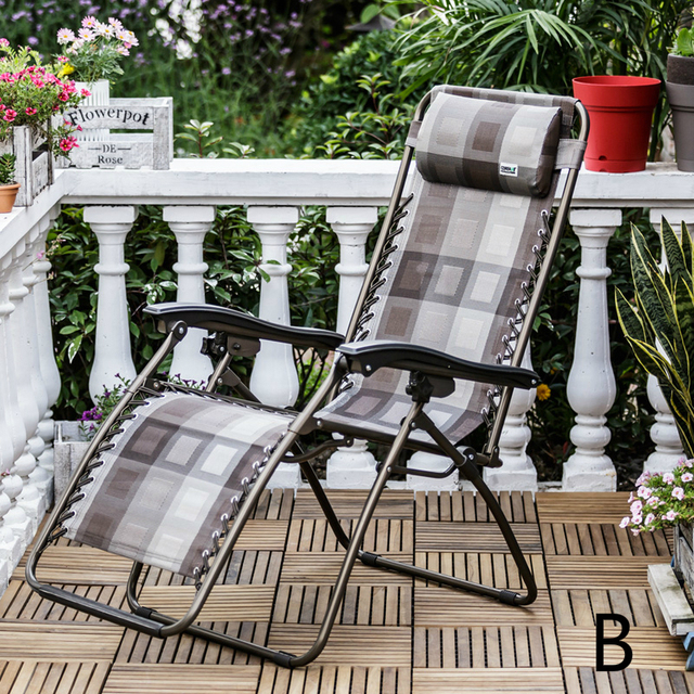 High Quality Sun Lounge Outdoor Camping Foldable Beach Chair Bed Adjustable Breathable Balcony Furniture Portable Leisure Chair