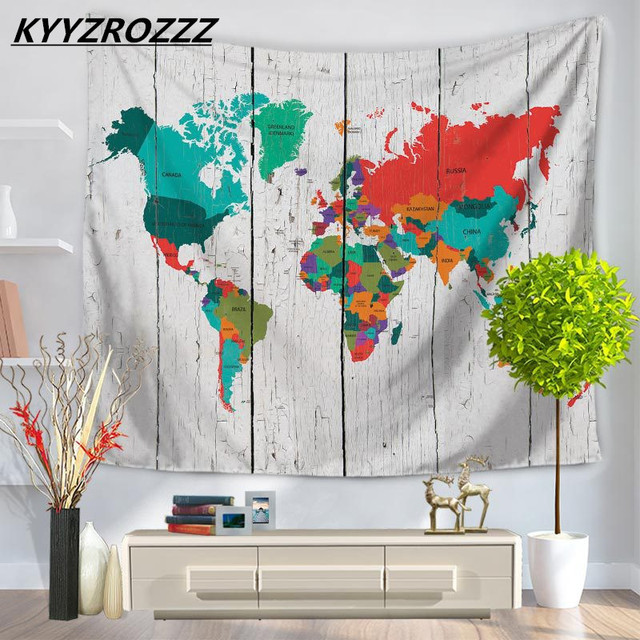 Abstract world map tapestry wall hanging sandy beach picnic throw abstract world map tapestry wall hanging sandy beach picnic throw rug blanket camping tent travel sleeping gumiabroncs Gallery