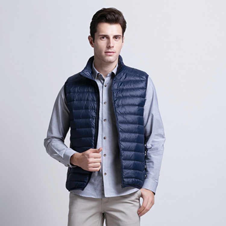 Зимняя мужская Одежда Новая легкая пуховая жилетка пальто куртки Мужская жилетка мужская пуховая куртка мужская пуховая модная пуховая одежда