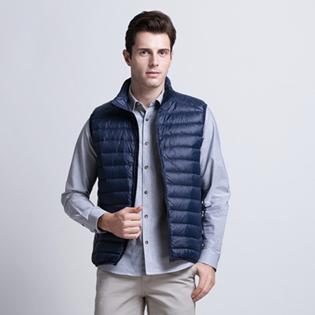 1f31991b78c Winter Men Clothes New Lightweight Down Vest Coats Jackets Men Vest Men  Down Jacket Men Eiderdown Fashion Feather Dress