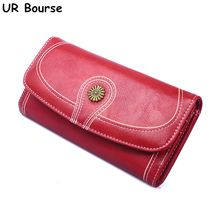 цены на UR BOURSE Women's Long Wallet Ladies Retro Money Coin Pocket Phone Bag  Coin Purse Female Large Capacity Clutch Bag Card Holder  в интернет-магазинах