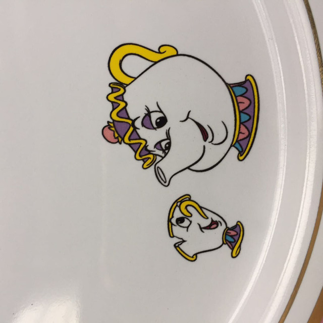Beauty and The Beast Mrs Potts Ceramic Plate