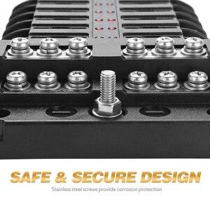 Image 5 - 6 weg 12 Way Blade Fuse Box Halter 12V 24V für Auto Boot Marine Caravan Trike Auto Sicherung blöcke mit Led anzeige Warnung Licht