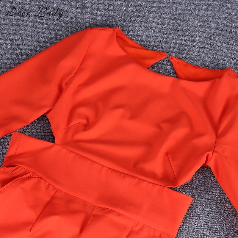 Gros Combinaisons Nu Longue Longues Moulante Dame Sexy Femmes À Pour Dos Body Rouge 2018 Salopette Cerfs Hl Élégant Manches En 5U6wPqS