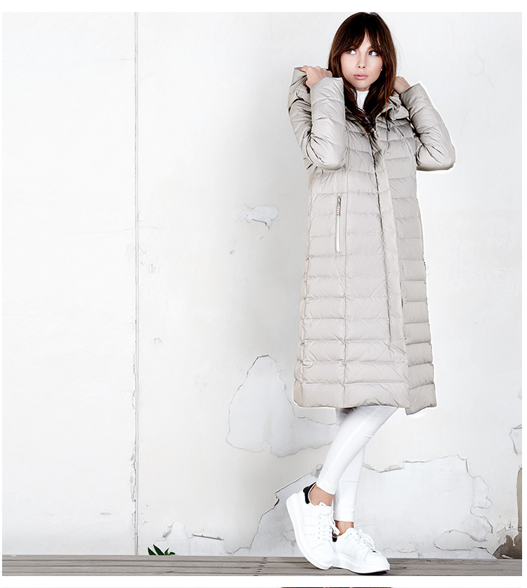 Canard De Vers Blanc 2017 Manteau Version Pour Duvet Femmes La Épaississement beige Paragraphe Mode Veste Black Bas Long Le Nouveau Roman qFzFta