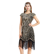 2019 New Ballroom Dress Samba Costume Sexy Party Dresses with Fringes Women Deep V-neck One-piece Straps 1920s