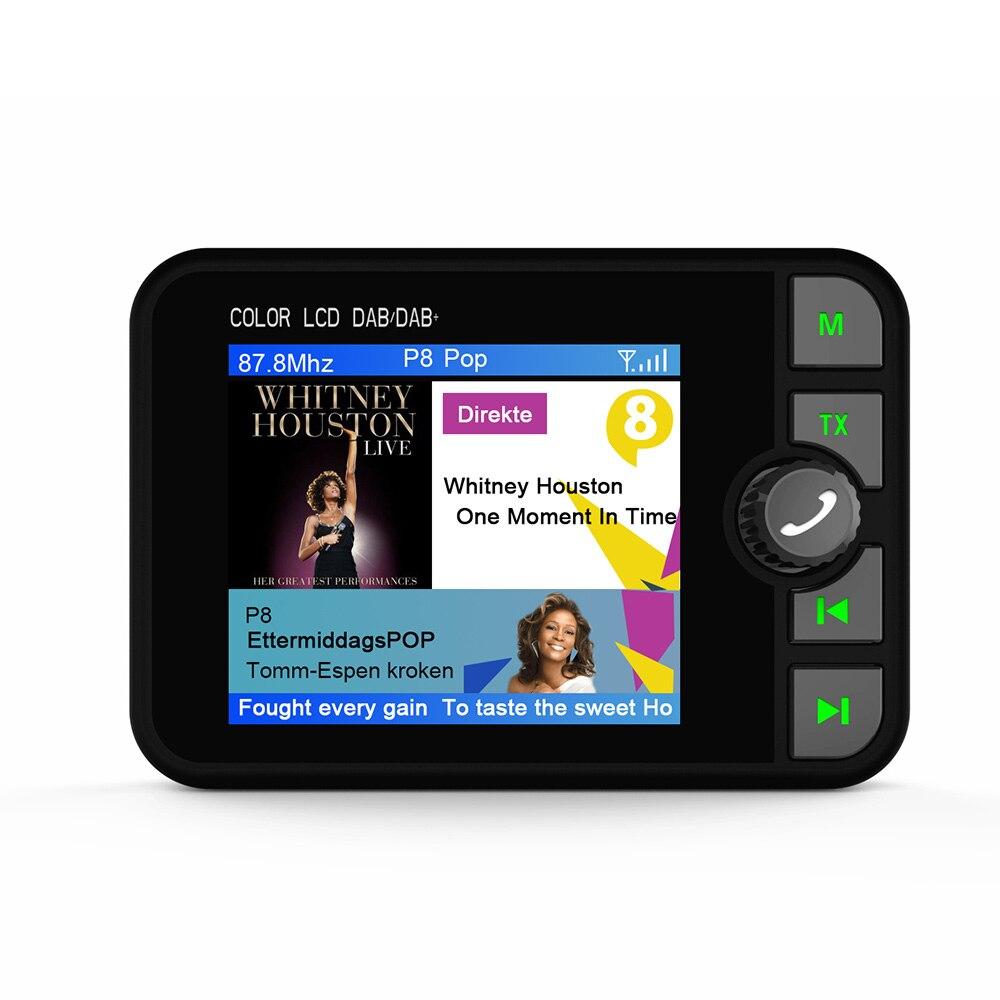 Récepteur Radio Bluetooth FM émetteur voiture DAB coloré TFT 3.5mm Jack sortie Audio DAB Tuner prise en charge de la carte TF