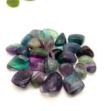 Красивый натуральный Радужный флюорит кварцевый кристалл опущенный