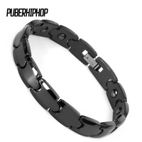 9MM Withe Smooth Bio Elements Energy Ceramic Bracelet Bangle Lovers Magnetic Germanium Health Chain Charm Women