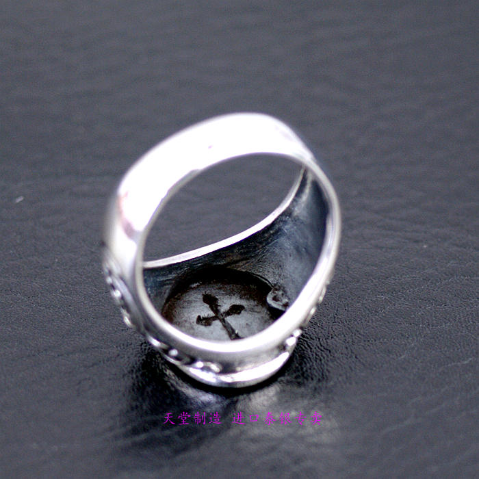 s925silver Thailand jewelry Virgin Mary's ring retro Thai Silver Rings - 3