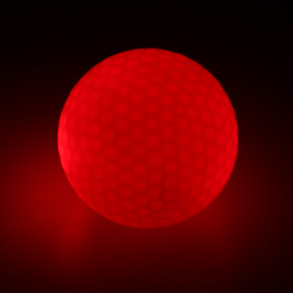 Golf Balls Elastic Ultra Bright Glow In the Dark Night Golf Match Game Pratice Ball Multi Color Choice Durable