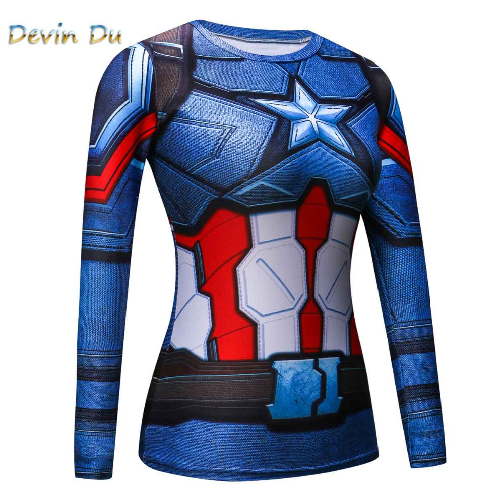 3D Printed T shirts women Raglan Long Sleeve Compression Shirt Flash Cosplay Costume crossfit fitness Clothing