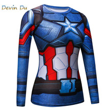 3D Printed T-shirts women Raglan Long Sleeve Compression Shirt Flash Cosplay Costume crossfit fitness Clothing Tops dropship