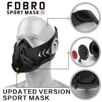 Nova FDBRO Máscara Esporte Estilo de Embalagem Preto Treinamento de Alta Altitude Condicionado Máscara Esporte 3.0 Com Caixa Frete Grátis