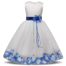 AmzBarley Girls Formal Dress Chlidrens Flower Lace Tutu dresses Wedding Outfits kids girl Ball gown party Costume for Teenager