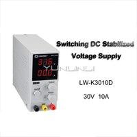 30V10A Mini Digital Switch DC Power Supply Adjustable High Precision Digital Display DC Power Switch Lab Power Supply LW K3010D