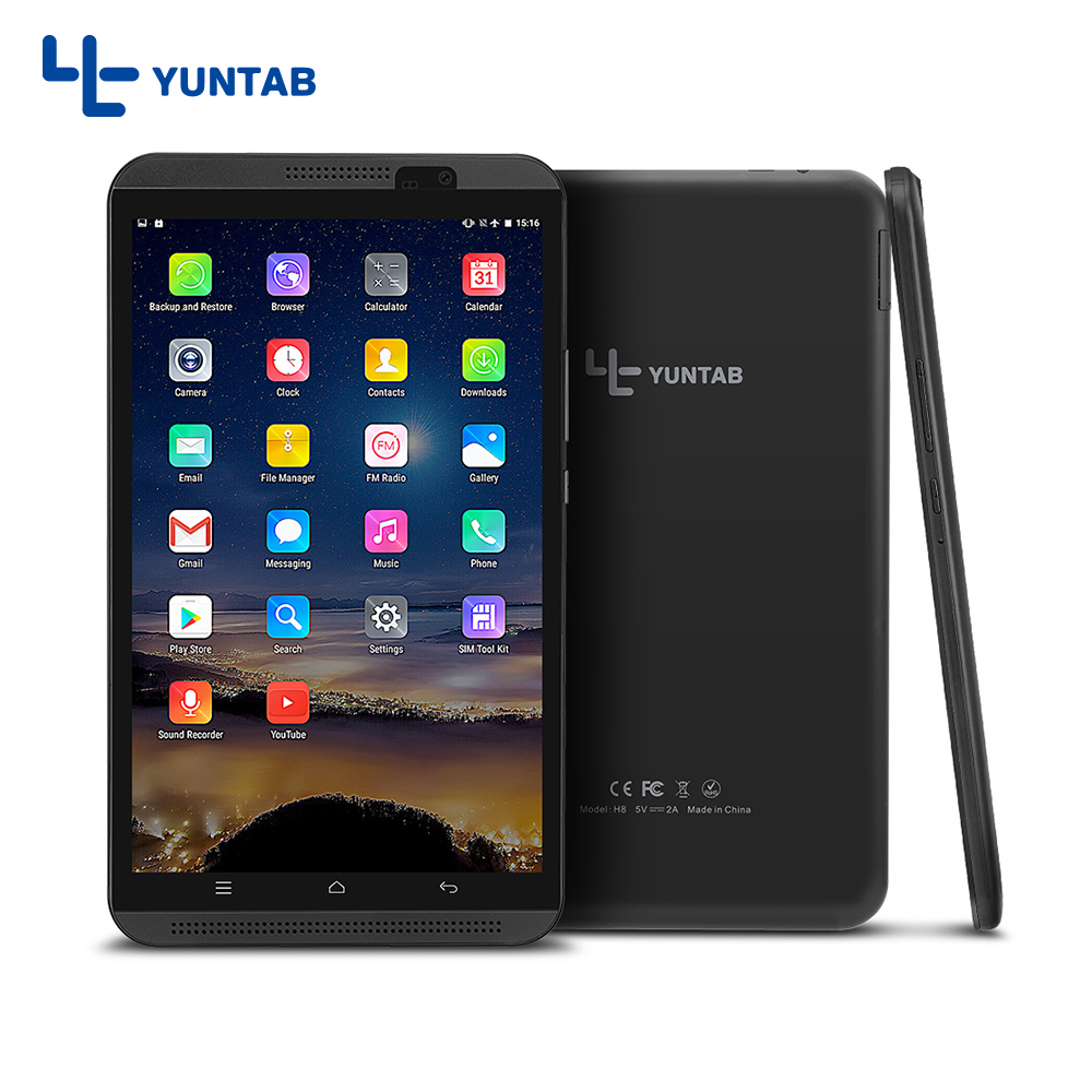 Yuntab 8 inch H8 Tablet PC 4G Android 6.0 Tablet Quad-Core Touch screen 1280*800 phablet with dual camera dual SIM slots yuntab 8 android 6 0 tablet pc h8 quad core 2gb ram 16gb rom 4g mobile phone with dual camera bluetooth 4 0 support sim card