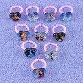 Venda quente bonito crianças anéis de 10 estilos misturados