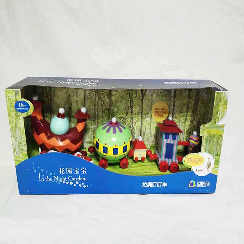 Big Size Cartoon Action Figure In The Night Garden Series Baby TV Toy Doll Infant Music Toy Ninky Nonk ding Car Musical Toy Set the toy story pink pig hamm action figure toy doll