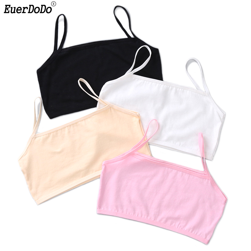 Kids Underwear Model Cotton Tops For Girls Tank Tops Teenage Girl Singlets 6-16 Years Children Camisole With A Bust Of 50-80 Cm