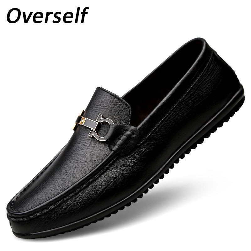 New Handmade Loafers Men's Moccasins Genuine Leather Breathable Casual Shoes For Men Slip On Boat Shoes Plus Big Size 45 46 47 cbjsho british style summer men loafers 2017 new casual shoes slip on fashion drivers loafer genuine leather moccasins