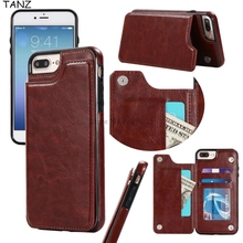 TANZ Retro PU Leather Case For iPhone 6 6s 7 Plus 5 Card Holders Case Cover For iPhone 5 5S SE 7plus 6sPlus Leather Wallet Case