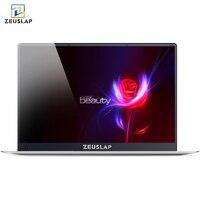 Zeuslap 15,6 дюйма четырехъядерный процессор Intel CPU 4 ГБ ОЗУ 64 ГБ EMMC Windows 10 Системы 1920 * 1080P IPS Экран Нетбуки ноутбука Тетрадь компьютер