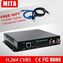 Vente chaude CVBS et HDMI Codeur + Audio Sur IP Flux MPEG4/H.264 Codeur Wifi Pour la Diffusion En Direct IPTV radiodiffusion