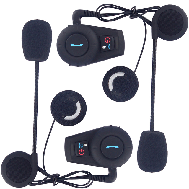 Intercomunicador Bluetooth Moto Bluetooth Helmet Headset/Intercom BT Interphone Kit for Scooters and Motorcycles(Pack of 2)