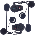 Intercomunicador bluetooth moto casco auricular bluetooth/bt interphone intercom kit para scooters y motocicletas (paquete de 2)