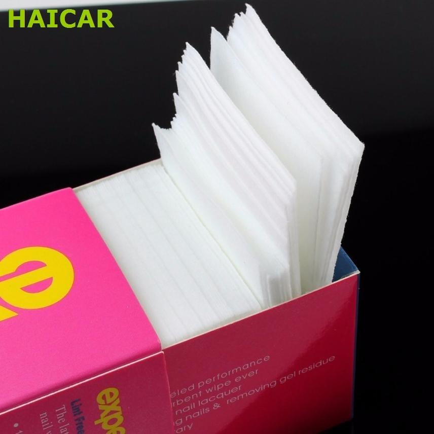 325pcs / l Lint Gratis Nail Art Gel Polish Remover Cton Pad Nail Torka Nail Dry Wipes Nail Art Cton Lint Pads Paper Dropship