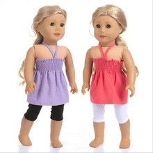 Born New Baby Fit 18 inch 40cm-43cm Doll Clothes Doll Red Pink Blue suspender skirt Accessories For Baby Birthday Gift born new baby fit 18 inch 43cm clothes for doll blue pink red star with hairhand clothes accessories for baby birthday gift