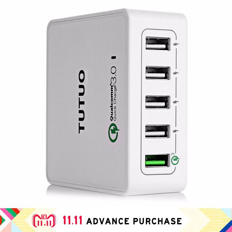 5 dans 1 appareils plus QC 3.0 power adapter chargeur multi usb dock téléphone prise de charge iphone fourchette charge rapide 3.0 rapide