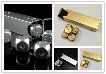 5pcs Aluminium alloy Portable Drinking game gold Dice Entertainment Toy Gambling Dice Fun Board Game Solid Dominoes poker Dice solid polished brass dice 20mm metal cube copper poker bar board game gift 1pc