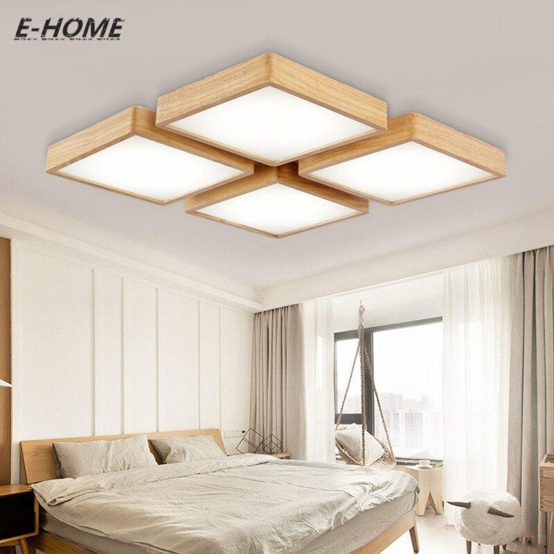 US $58.8 |Neue moderne solid decken einfache wohnzimmer lampe Japanischen  holz kreative schlafzimmer studie beleuchtung fernbedienung-in ...