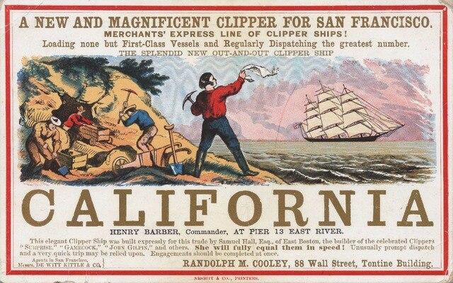 CLIPPER SAN FRANCISCO CALIFORNIA US Propaganda WW2 Vintage Retro ...