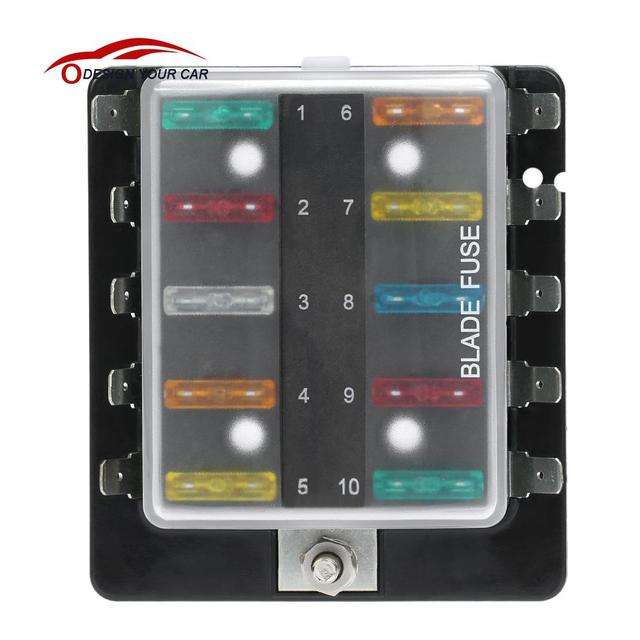 10 Way Blade Fuse Box Holder with Plastic Cover M5 Stud Standard 6 3mm Spade Terminals_640x640 10 way blade fuse box holder with plastic cover m5 stud standard plastic fuse box at gsmx.co