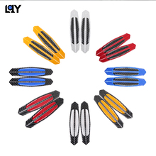 LQY 4pc 100% real carbon fiber reflective car stickers door anti-collision advanced anti-scratch