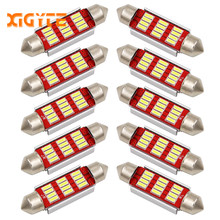 10PCS Festoon 31mm 36mm 39mm 41mm C5W CANBUS NO Error Auto Light 12 SMD 4014 LED Car Interior Dome Lamp Reading Bulb White DC12V(China)