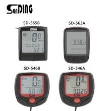 купить SUNDING SD Multifunctional Bicycle Computer Wired Odometer Stopwatch Waterproof Mini Digital LCD Speedometer Tracker дешево