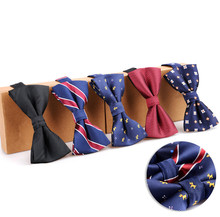 Fashionable Gentleman Bow Tie Silk Embroidery Pattern Colorful Man Elegant Party Wedding Bridegroom Business Shirt Accessories